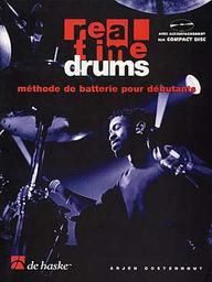 Real time drums, vol. 1 : méthode de batterie pour débutants / Arjen Oosterhout | Oosterhout, Arjen. Auteur